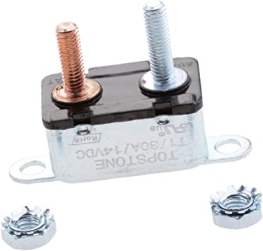 Automotive 30AMP Metal Auto-Reset Circuit Breaker 30A 12V for RV Boat