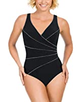 Kirkland Signature by Miraclesuit Womens 1 Piece All Over Body Control Swimsuit