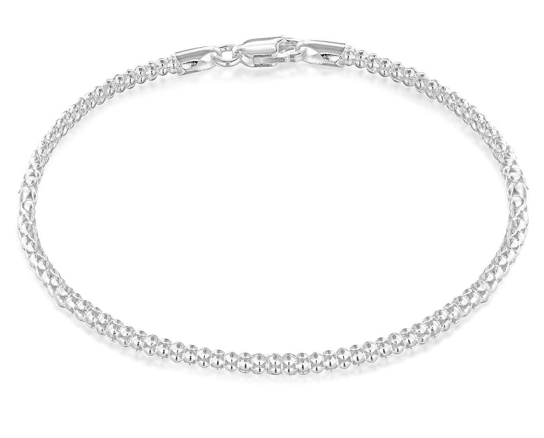 4bc24074793a Tuscany Silver Pulsera de Plata de Ley para Mujer 19 cm  Amazon.es  Joyería