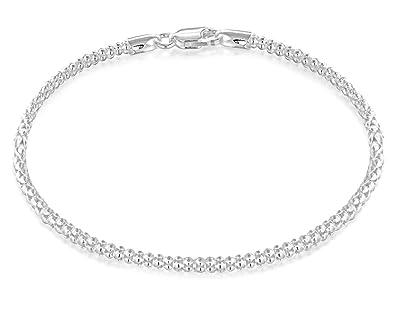Tuscany Silver Sterling Silver 250 Popcorn Chain Bracelet of 19cm/7.5 yoYOJ8bn