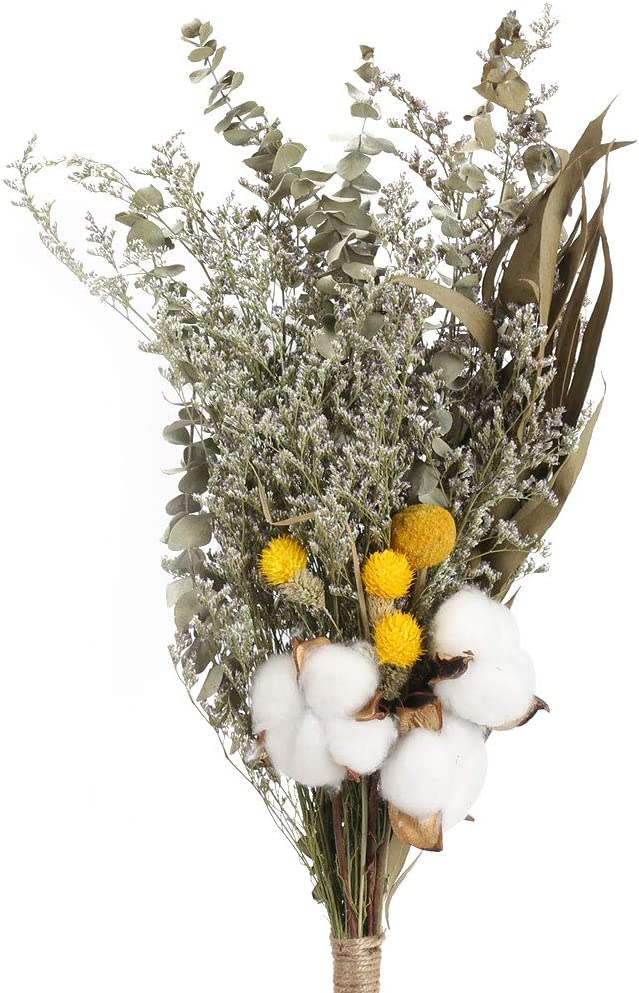 Dried Flower Strawberries Grass Bouquet Natural Plant Stems Floral Arrangement
