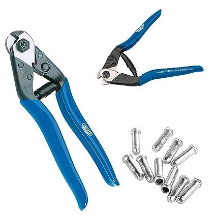 Draper - Alicates para cortar cables con 10 casquillos 57768 4857 190 mm