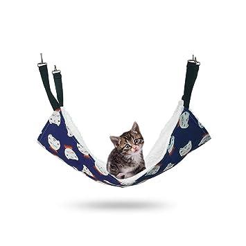PETCUTE Hamacas para Gatos Colgante Colchoneta para Hurones Conejos pequeños Animales: fácil de Colocar en una Jaula: Amazon.es: Hogar