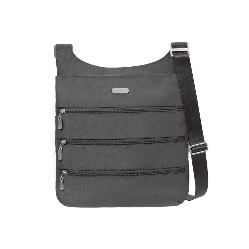 baggallini Big Zipper Bagg with RFID (Charcoal)