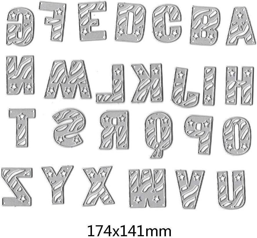 Letter DIY Cutting Dies Stencil Scrapbooking Album Stamp Paper Art Crafts Decor