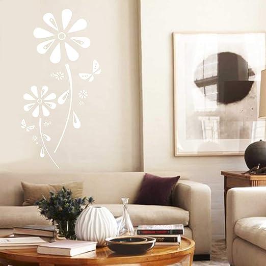 Adesivo murale - Vinilo Decorativo Flor de Margarita - 60cm x 29cm ...