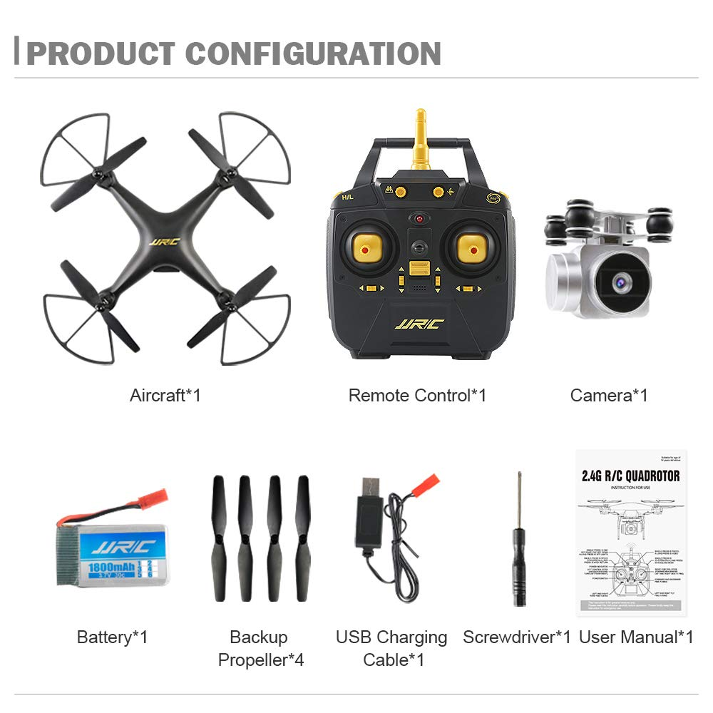 ZMM RC Drone mit Kamera 720p Höhe Hold Quadcopter Headless RC Hubschrauber Quadcopter mit Kamera 20 Minuten lang