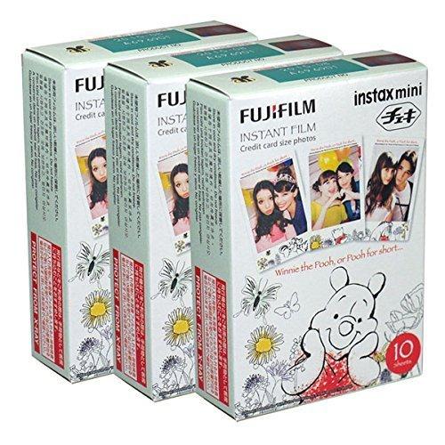 Fujifilm Instax Mini Pooh 30 Film for Fuji 7s 8 25 50s 90 300 Instant Camera, Share SP-1 (Instax Mini Film Winnie)