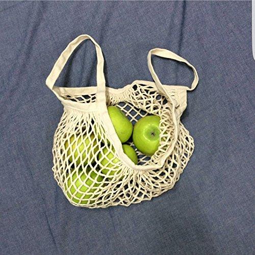5Five Portable Supermarkt Einkaufstasche wiederverwendbare Mesh-Tasche mit großer Kapazität (Weiß) Blau