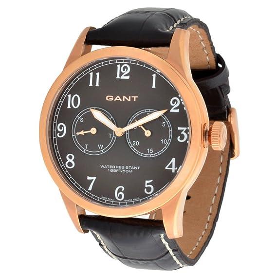Gant W70325 - Reloj, correa de cuero color marrón