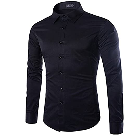 KEBINAI Men Shirt Long Sleeve Chemise Homme NEW Fashion Business Design  Mens Slim Fit Dress Shirts 6feb19b0c71