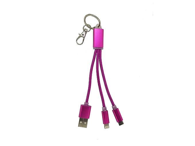 Llavero con Cable de Carga Universal para iPhone y Android ...