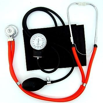 Valuemed - Esfigmomanómetro + estetoscopio Rappaport Sprague rojo profesional médico aneroide Sphygmomanometer Pro CE NHS unidad + estetoscopio en caja: ...