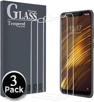Ferilinso Cristal Templado para Xiaomi Pocophone F1, [3 Pack ...