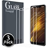 Ferilinso Screen Protector for Xiaomi Pocophone F1,[3 Pack] Protection Tempered Glass with Lifetime Replacement Warranty for Xiaomi Pocophone F1