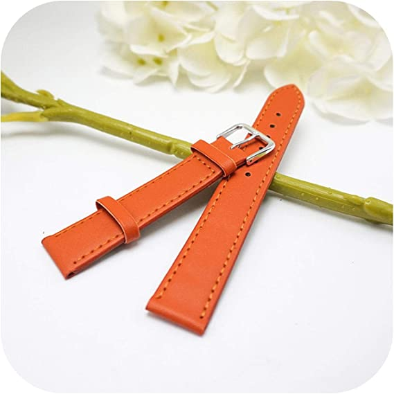 bracelet cuir orange 20mm