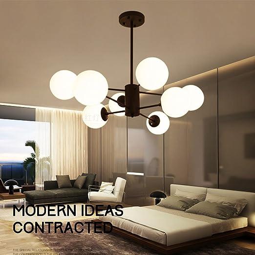 European Post-modern Industrial Style Simple Glass Ball Bedroom Living Room Corridor Porch Creative Art Led Chandelier Lights & Lighting Ceiling Lights & Fans