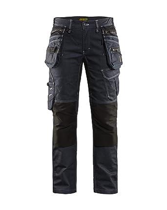 D23 Pantalones De Trabajo Para Mujer Color Azul Marino Y Negro Amazon Es Industria Empresas Y Ciencia