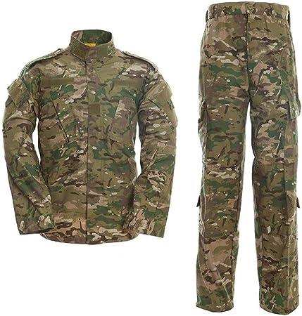 Airsoft Camisa Y Pantalones De Traje, Camuflaje Camo Combat BDU Chaqueta De Los Hombres De Camisa Y Pantalones Multi-Bolsillo For La Caza De Disparo Camo (Size : XL): Amazon.es: Hogar
