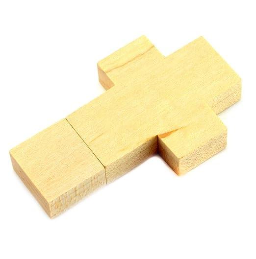 Shooo 16GB Madera Cross Memoria USB Pendrive Tarjeta de memoria