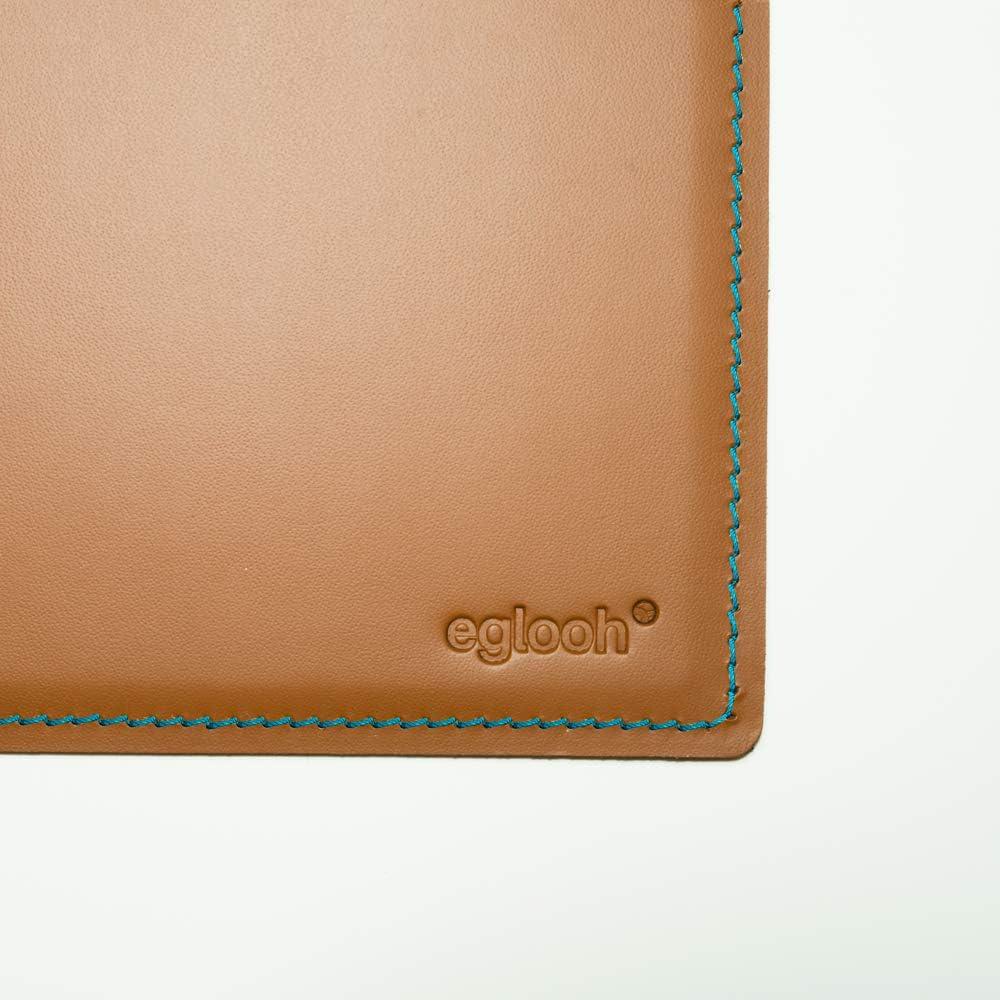Sottomano Scrivania Ufficio in Cuoio Arancione Marrone Naturale cm 90x60 Eglooh Made in Italy Mercurio Cuciture Artigianali e Fondo Antiscivolo