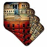 3dRose CST_56007_1 Rooftops Brooklyn Grunge