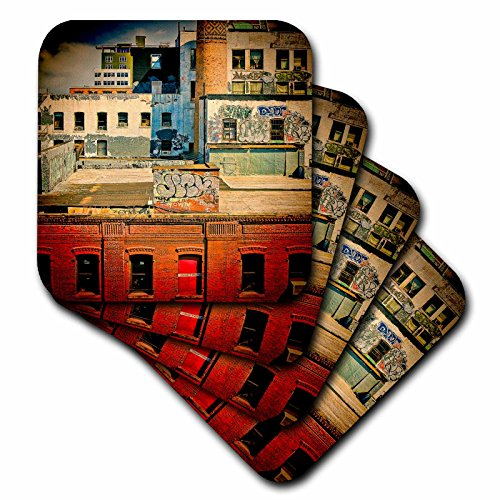 3dRose cst 56007 1 Rooftops Brooklyn Graffiti