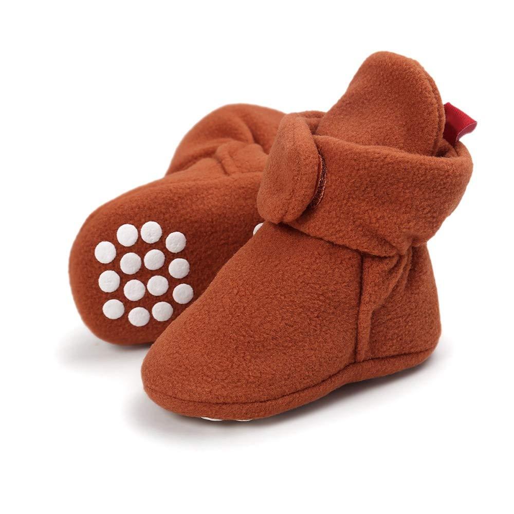 MZjJPN Newborn Baby Winter Boots Infant Kids Soft Sole Faux Fleece Toddler Crib Shoes Unisex Booties 0-18 Months