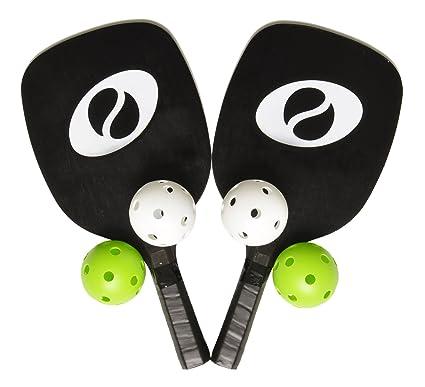 Amazon.com: Optum – Juego de 2 raquetas y 4 bolas de ...
