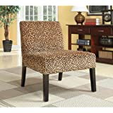 Coaster 900184 Patterned Accent Chair, Leopard