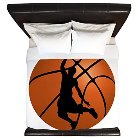 CafePress diseño de silueta de baloncesto Dunk - King funda de ...