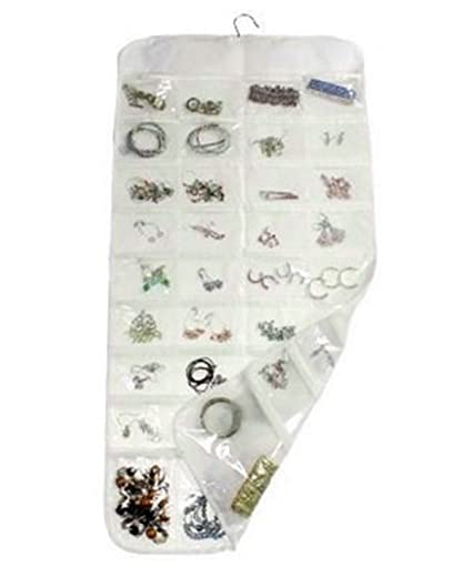 Amazoncom Femitu Hanging Jewelry Organizer 72Pocket 2Sided