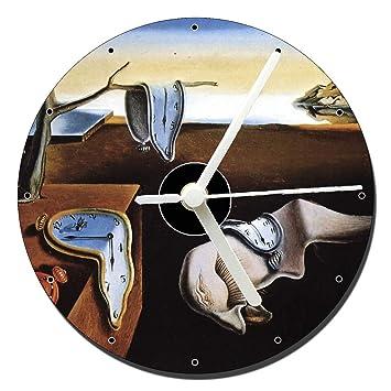 MasTazas Dali La Persistencia De La Memoria The Persistence of Memory Reloj CD Clock 12cm: Amazon.es: Hogar