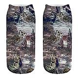 YOMXL Cute Animal Owl Crew Socks Casual 3D Printing Active Cool Ankle Socks Womens Funny Socks Casual Cotton Crew Animal Socks