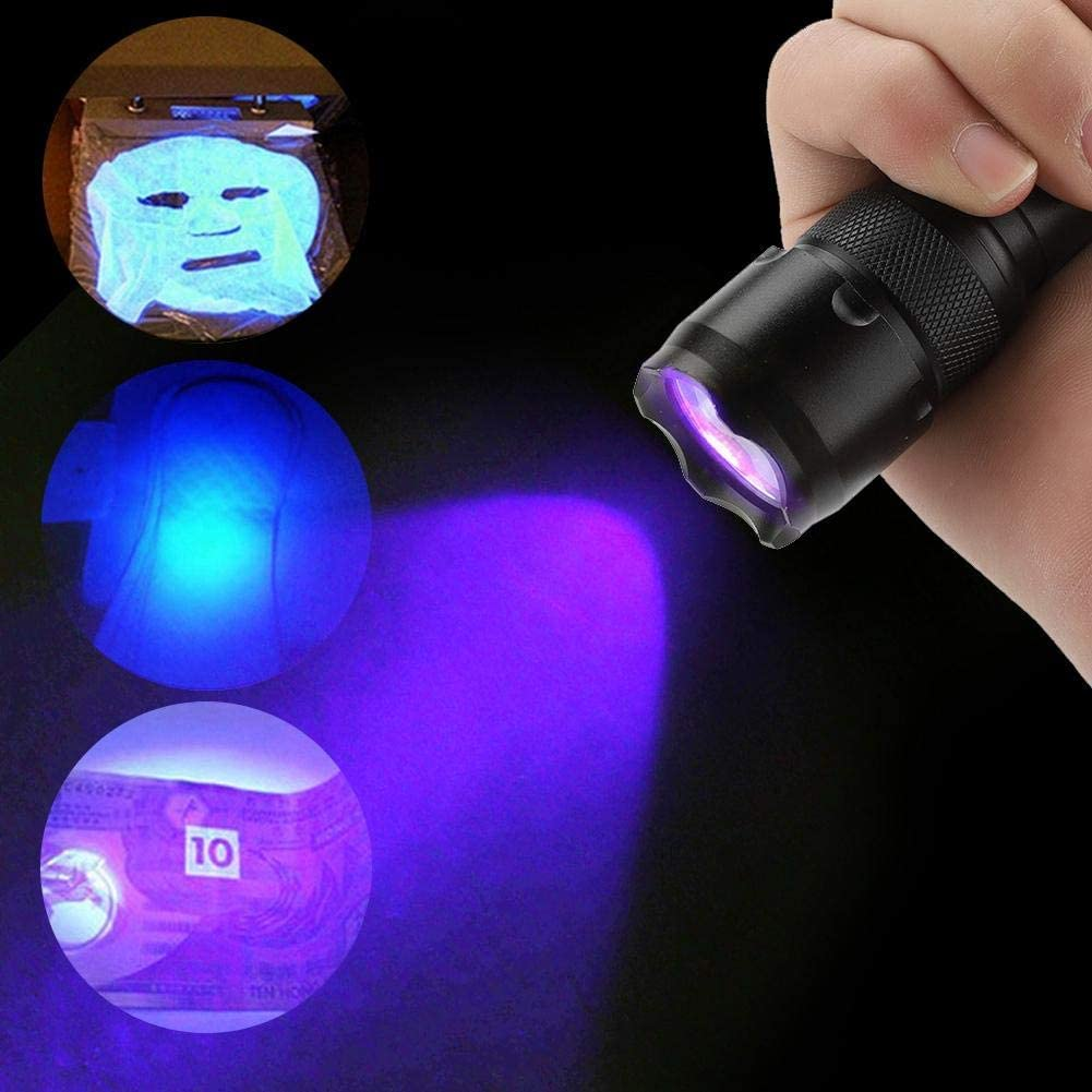 Redxiao LED UV Flashlight Bright Ultra Violet Light Torch UV Flashlight Lamp for Fluorescence Test 395nm