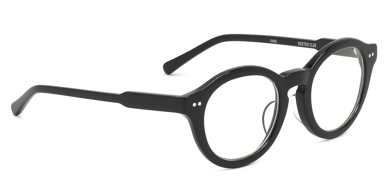 CHAS 01 48サイズ BOSTON CLUB (ボストンクラブ) メガネ 伊達メガネレンズ付き チャス 日本製 MADE IN JAPAN クラシック レトロ モダン ラウンド キーホールブリッジ メンズ レディース B07FSFWCGB ダテメガネ用レンズ(度なし、UVカットつき) ダテメガネ用レンズ(度なし、UVカットつき)
