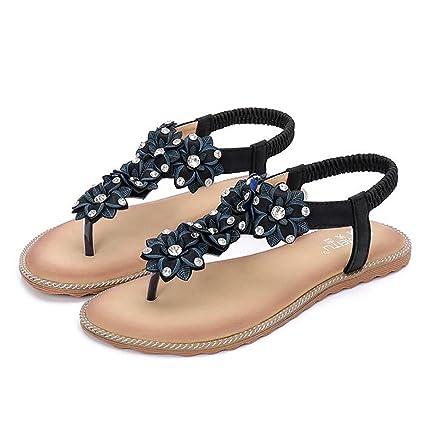 cbb2d6cc08a67 Amazon.com: SHANGXIAN Women's Flat Sandals, Anti-Slip TPR Outsole ...
