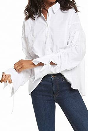oversized white button down shirt