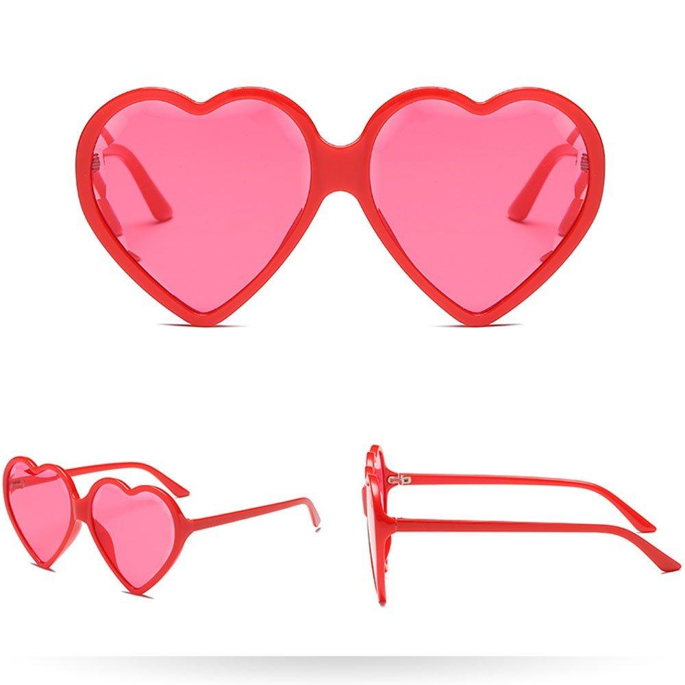 Polarized Sunglasses Women Man Fashion Vintage Heart Shape Big Frame Sunglasses Eyewear