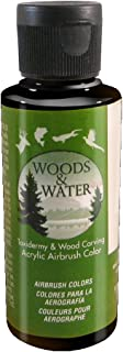 product image for Badger Air-Brush Co. 4-Ounce Woods and Water Airbrush Ready Water Based Acrylic Paint, Detail Black