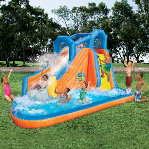 Inflatable Water Slide Dubai: Banzai Gushing Geyser Water Park With 1 Water Blasting