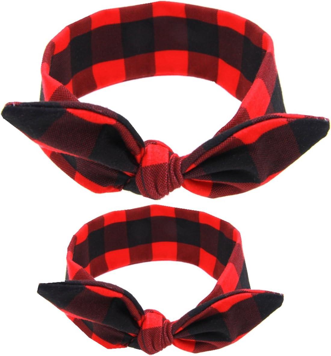 Mommy And Me Headbands Girls Headband Bunny Ears Bow Baby Headband 6 Pack