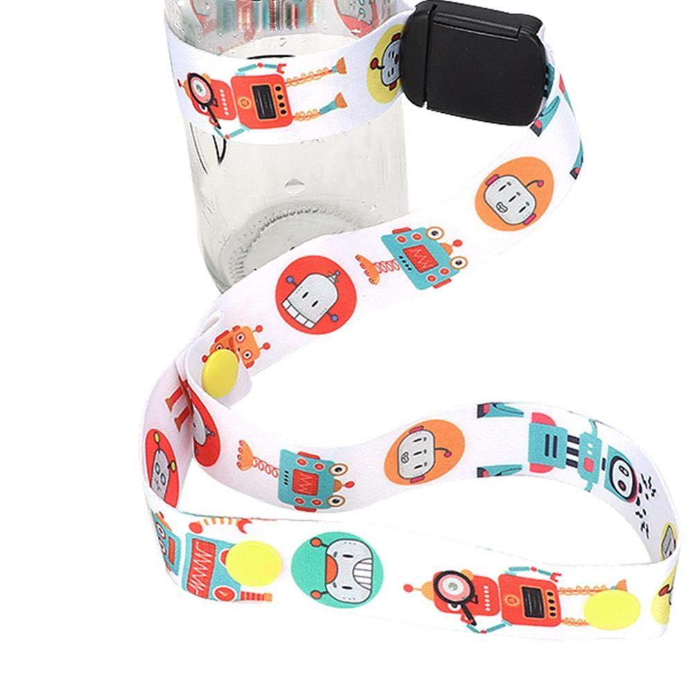 Baby Sippy Cup Holder Spielzeug Anti-Drop Belt2.5cm Breite Babyflasche Cup Verstellbarer Gurt Halter Kinderwagen Spielzeug Sippy Leash Tether 15#