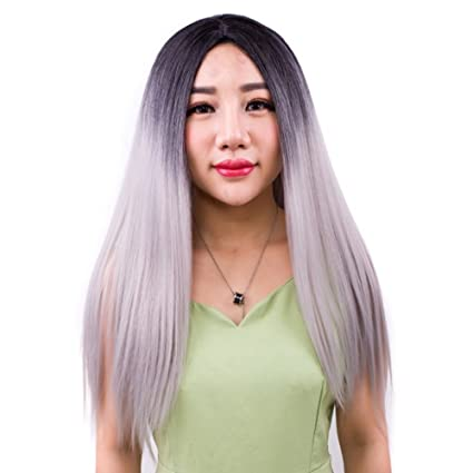 Staresen Pelucas peluca llena sintética larga negra natural larga para la fiesta o el uso diario