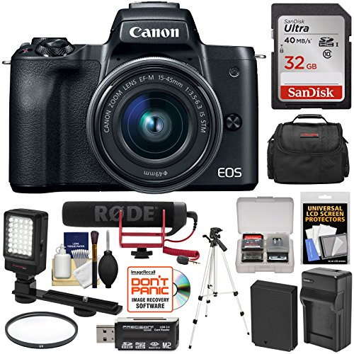 Canon EOS M50 Wi-Fi Digital ILC Camera & 15-45mm IS Lens Vid