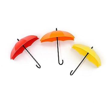 Alohha Creative Paraguas Pared Puerta Ganchos para el Pasillo Cocina baño Sala de Estar para Colgar Bolsas Accesorios para Llaves Soporte Colorido: ...