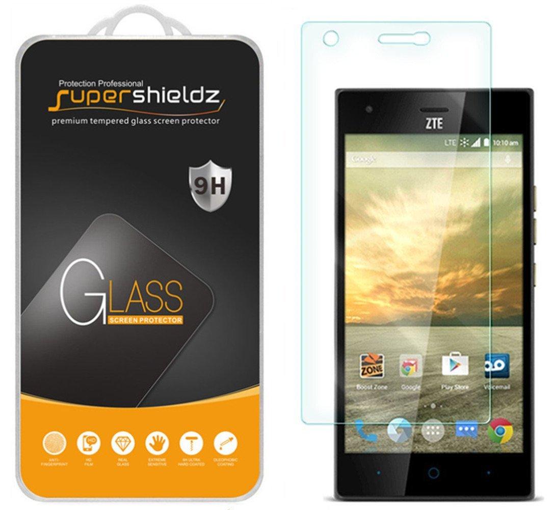 Amazon: Zte Warp Elite Tempered Glass Screen Protector, Supershieldz  Antiscratch, Antifingerprint, Bubble