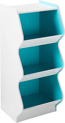 IRIS USA KSBS-3BLU 3 Tier Curved Edge Storage Shelf