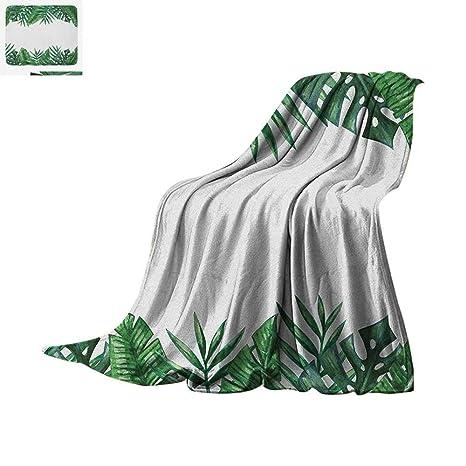 a201868569078 Amazon.com: Palm Leaf Super Soft Lightweight Blanket Framework with ...