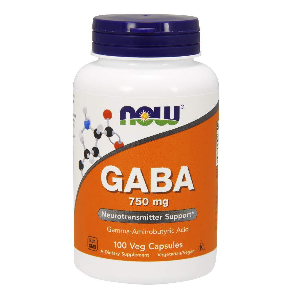 NOW GABA 750 mg,100 Veg Capsules